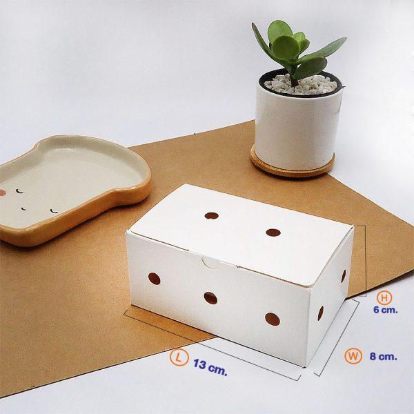 กล่องไก่ทอดบอนชอน สีขาว (Size-XS) dimension