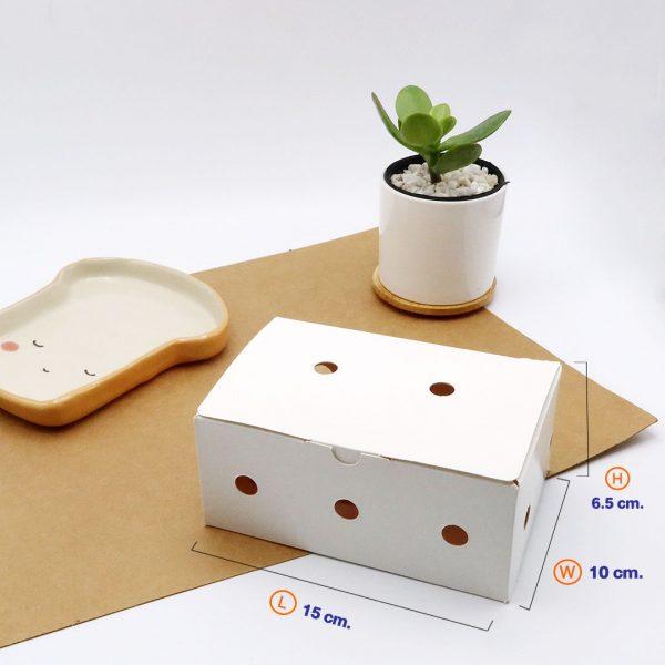 กล่องไก่ทอดบอนชอน สีขาว 6-7 ชิ้น (Size S)