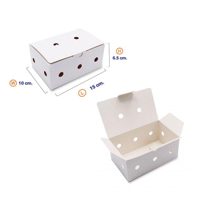 กล่องไก่ทอดบอนชอน สีขาว (Size-S) dimension